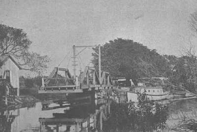 First bridge over canal at Ocean Avenue