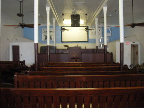 Bride of Christ Tabernacle interior looking south