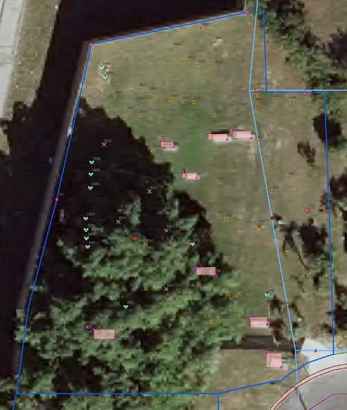 Aerial image from GPR Survey