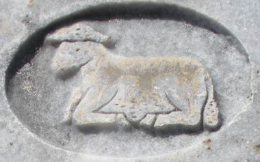 Marker with symbolic lamb