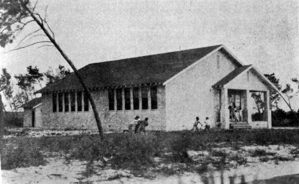 Poinciana Elementary School After 1928 Hurricane (Fl Memory pr30259)
